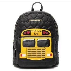 Betsey Johnson Wheels School Bus Backpack